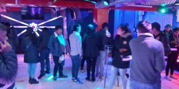 Siete menores fueron intervenidos en discoteca.