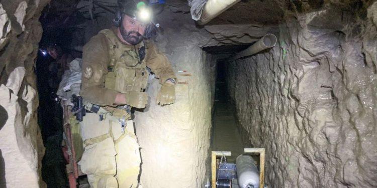 La Patrulla Fronteriza de Estados Unidos presentó el miércoles pasado en conferencia de prensa en San Diego detalles de un túnel clandestino transfronterizo de más de 1,3 kilómetros de longitud. (EFE).