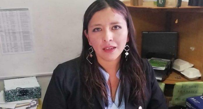Presidenta de la Comisión de la Festividad Virgen de la Candelaria, Claudia Ramos.