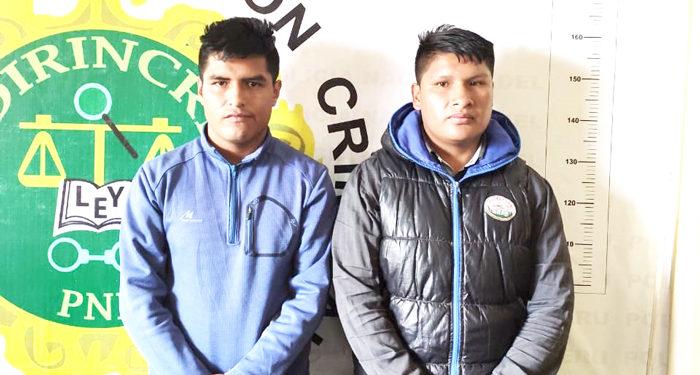 Varones fueron detenidos por la PNP.