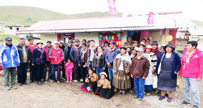 20 familias se beneficiaron.