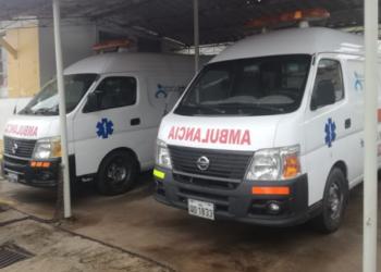 Ambulancias que cumplieron su periodo de uso que es de 10 años.