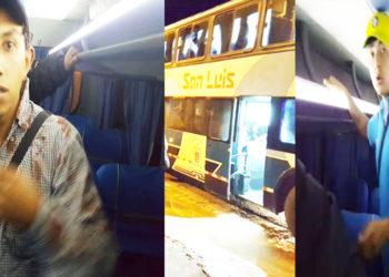 Ciudadavo venezolano agredió a pasajero que registraba imágenes de violencia.
