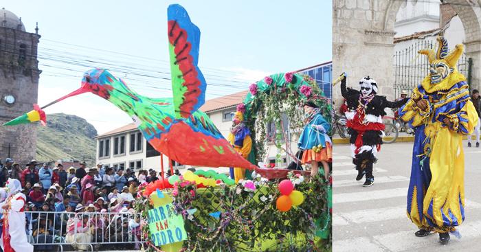Carros alegóricos fueron la atracción en el domingo de carnavales en la ciudad de Juli.
