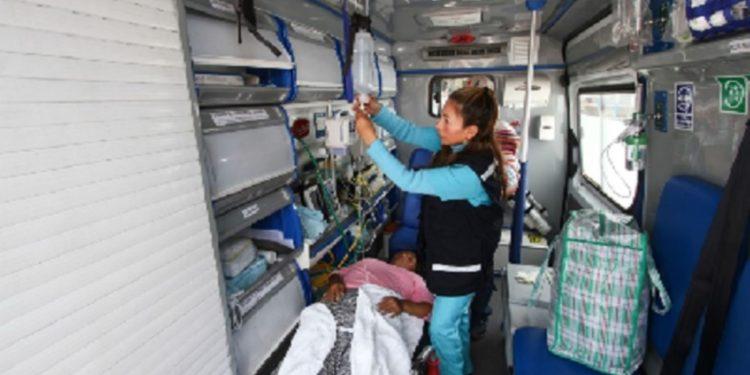 El puente aéreo, cuya instalación dispuso ayer el Gobierno Regional del Cusco, permitió la rápida evacuación de las personas en delicado estado de salud. (Andina).