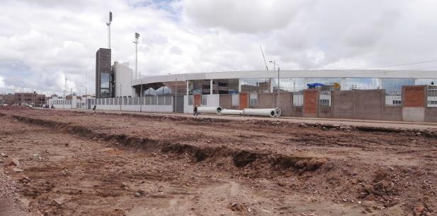 Así se encuentra el mejoramiento del exterior del estadio.