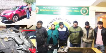 """Las seis personas integran a la banda criminal """"Los Raqueteros de Juliaca""""."""