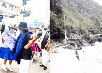 Las últimas precipitaciones pluviales, dejaron incomunicadas a varias provincias por desborde de los ríos.