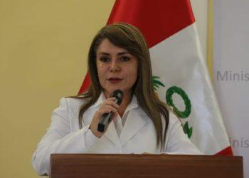 La ministra de Salud, Elizabeth Hinostroza. (Fotos: Minsa).