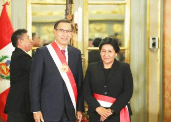 Susana  vilca. Sera la primera ministra mujer puneña en asumir un cargo de tal responsabilidad.
