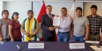 Devida suscribió una adenda con la municipalidad provincial de Sandia para continuar con la capacitación y asistencia técnica a la cadena de valor de los cultivos de café y frutales. (Andina).