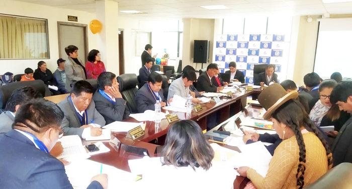 Sesión de Consejo regional.