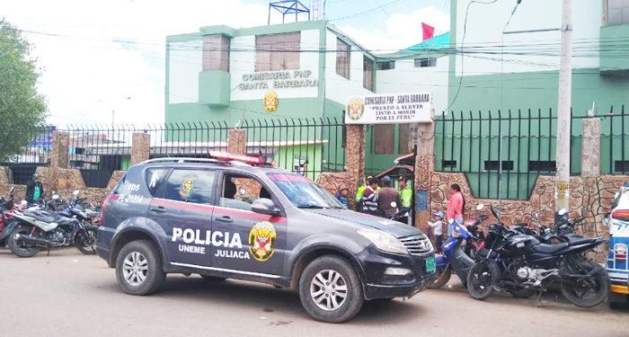 Personal PNP fue conducido a la comisaría..