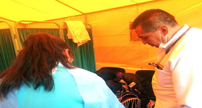 Atenciones médicas por parte de la Red de Salud Puno en la festividad de la Virgen de la Candelaria.