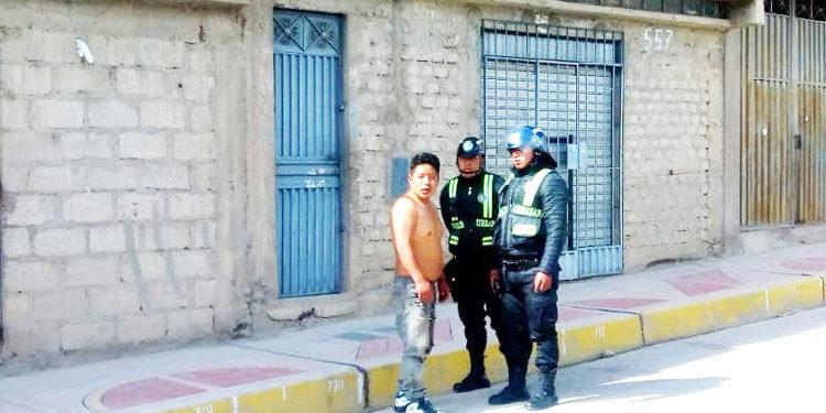 Acusado de agresión fue detenido por los serenos.