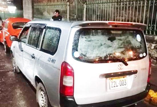 vehículo fue llevado hasta la dependencia policial.