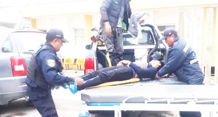 Joven herido no fue atendido en hospital de Juliaca.