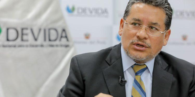 Presidente ejecutivo de Devida, Rubén Vargas Céspedes.