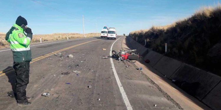 Policía llegó al lugar donde ocurrió el fatal accidente