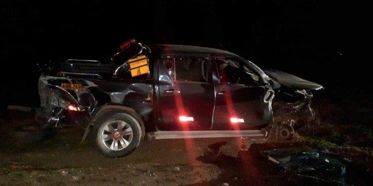 Dos accidentes en una noche se registraron en la vía Interoceánica