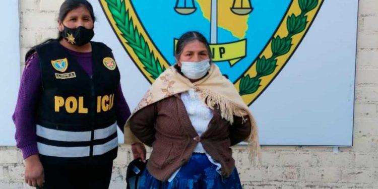 Anciana. Tras ser capturada fue llevada a la dependencia policial.