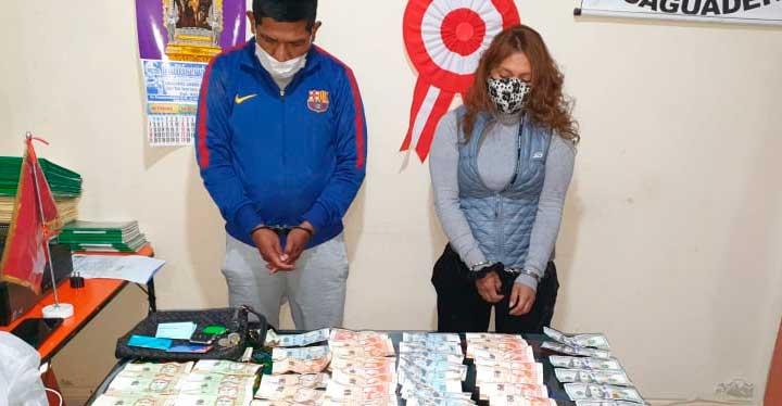 Detenidos. Pareja de ladrones fueron llevados a la comisaria de Desaguadero.