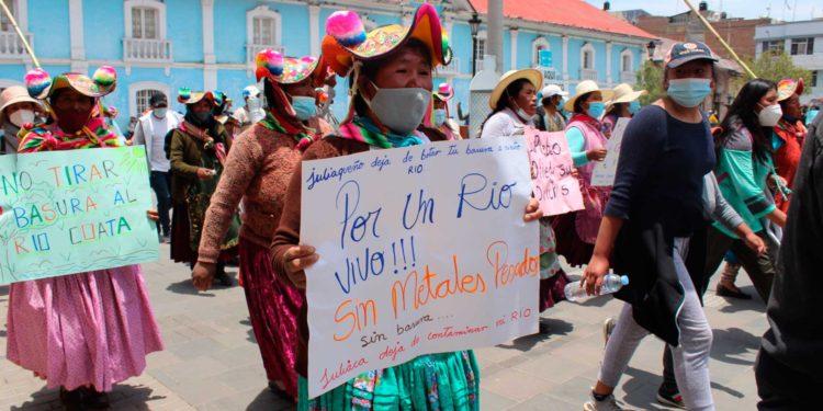 Manifestantes ingresaron desde Alto Puno