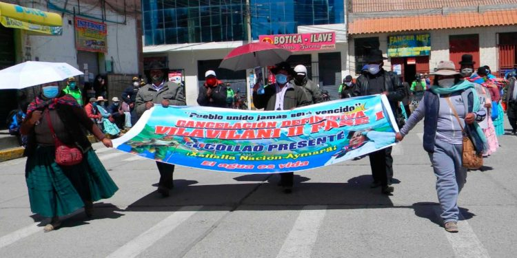 Aymaras ratifican huelga indefinida por la cancelación del proyecto Vilavilani