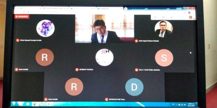 Audiencia se llevó a cabo de manera virtual donde se estableció la medida contra los investigados.