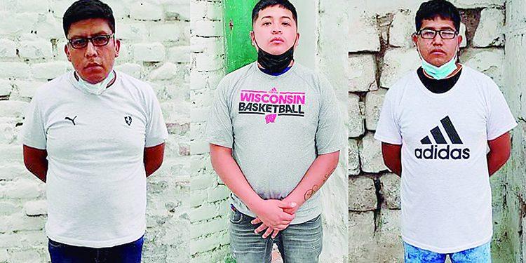 Detienen a tres por hurto de celulares en el Cercado de Arequipa