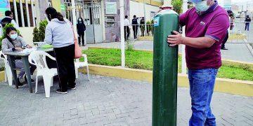 Oxígeno gratuito es insuficiente para atender la demanda de consumo en Arequipa