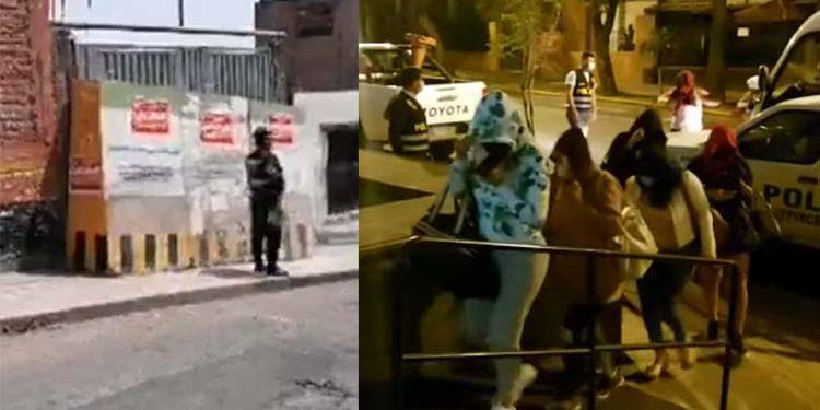Arequipa: Clausuran por tercera vez prostíbulo tras intervenir a 26 personas