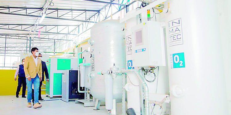 Entregarán planta de oxígeno el 20 de abril para la atención de pacientes covid