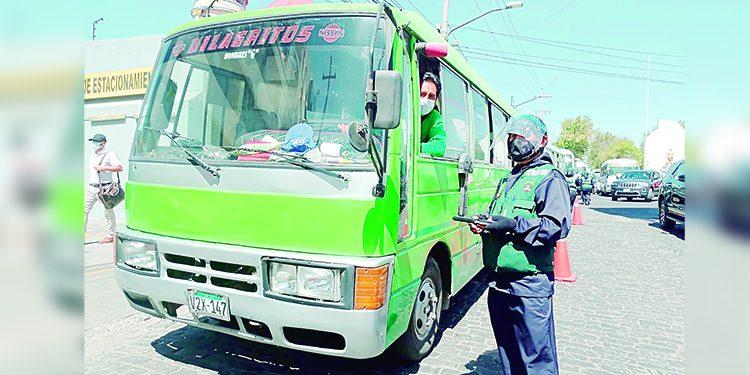 Municipalidad de Arequipa retirará placas de vehículos informales desde el 5 de abril