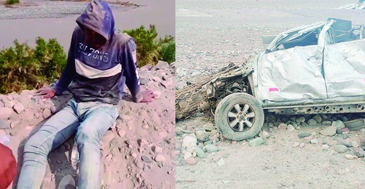 Sobrevive el joven que acompañaba al ganadero Manrique Dávila cuando el vehículo cayó a un precipicio en Corire