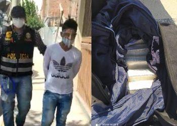 Capturan a sujeto con más de 5 kilos de droga que había traído de Lima