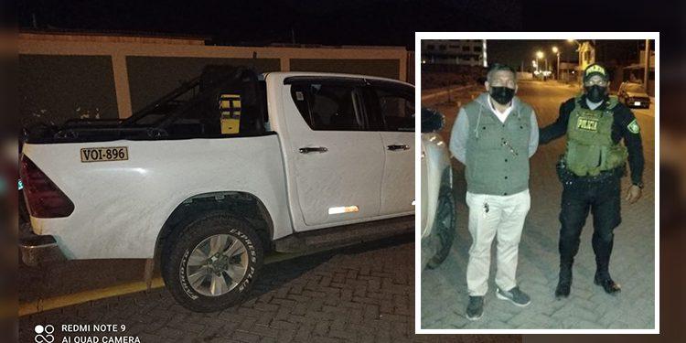 Detienen a varón que conducía camioneta que fue hurtada en Juliaca