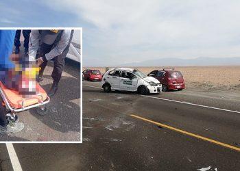Dos adultos y un menor se salvan de morir en despiste de auto en la Panamericana