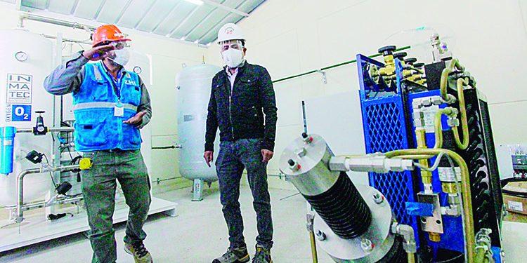 La próxima semana operará la planta de oxígeno en Majes para pacientes Covid