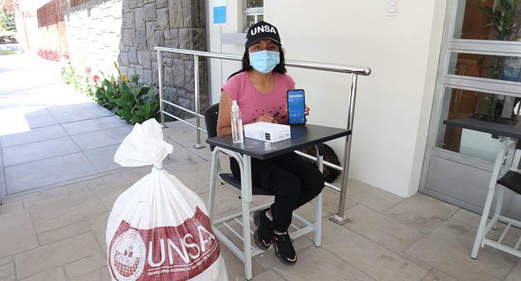 Liz Milagros García Curitimay (17), procedente de Apurímac, es una de las ingresantes a la UNSA