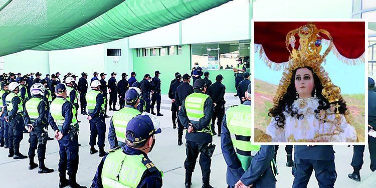 Mil policías custodian festividad de la Virgen de Chapi para evitar reuniones sociales
