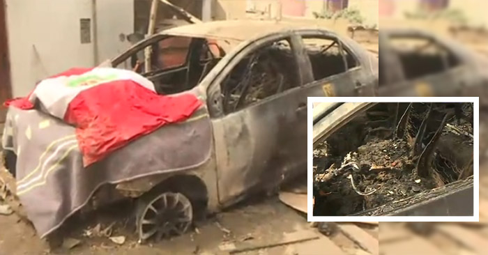 Se recuperaba de la Covid y queman su auto durante desalojo en Lomo de Corvina
