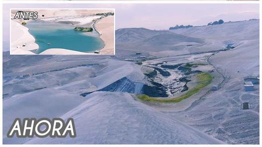"""La Joya: Vaciaron laguna """"Huacachina"""" y no encontraron cuerpo de joven ahogado"""