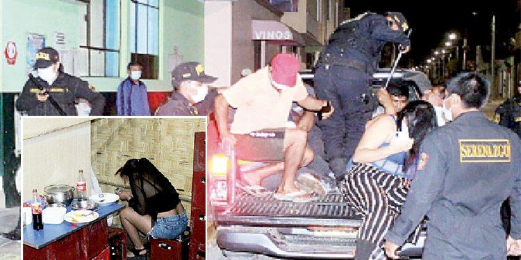 Policía allana tres locales clandestinos en Corire donde se ejercía el meretricio