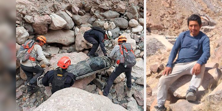Trasladan a pie el cuerpo del minero que murió luego de 6 días atrapado en socavón
