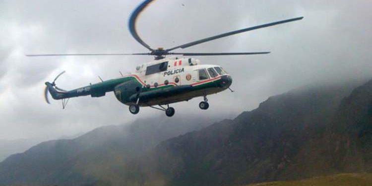 Cinco policías desaparecen tras aterrizaje de helicóptero en la selva de Carabaya