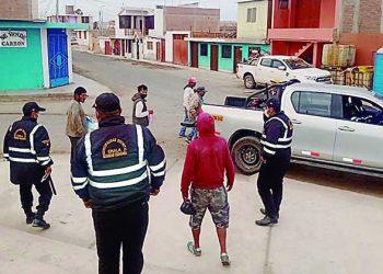En bares y calles intervienen a quienes incumplen medidas sanitarias en Caravelí