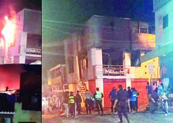 Incendio por explosión de balón de gas deja tres heridos en Secocha