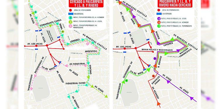 ¡Atención! Mañana y el miércoles cerrarán vías para pruebas en vacío para obras