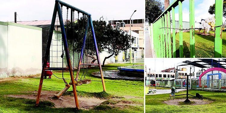 Parque de la Alameda se cae a pedazos a plena vista del municipio de Majes